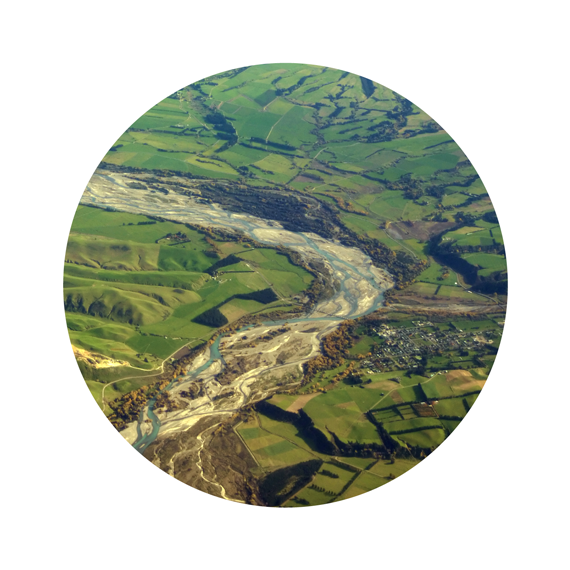 Image of New Zealand water quality around farming and agricultural development